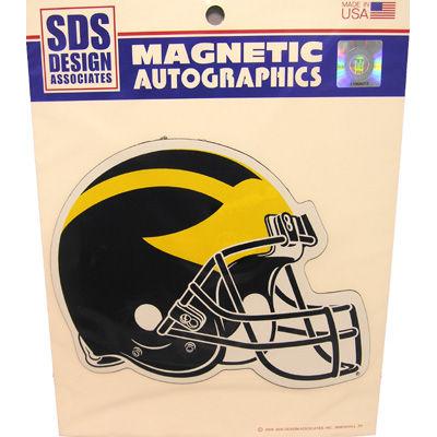 SDS University of Michigan Football Large 12'' Helmet Car Magnet