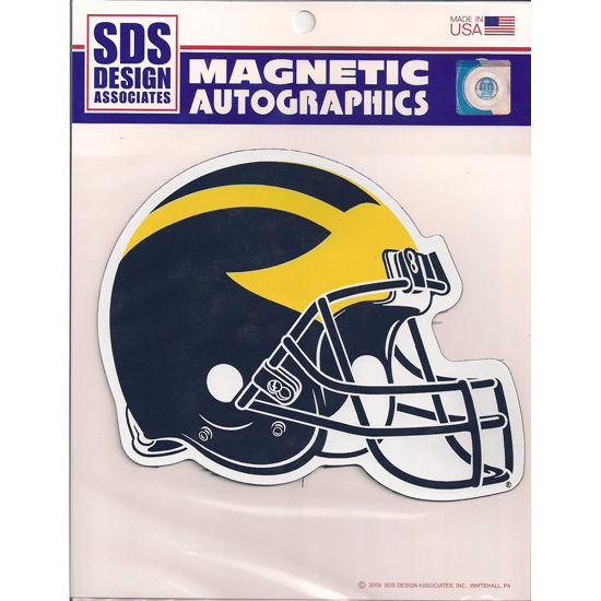 SDS University of Michigan Football Helmet Car Magnet (6 1/2 x 8)