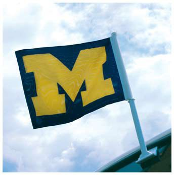 University of Michigan Block M Car Flag