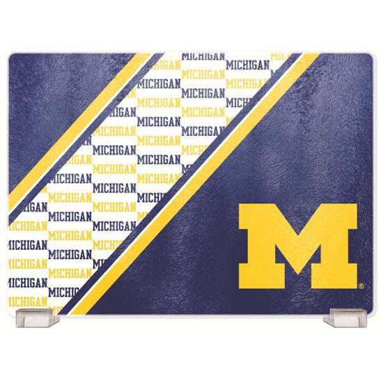 Duck House University of Michigan Glass Cutting Board