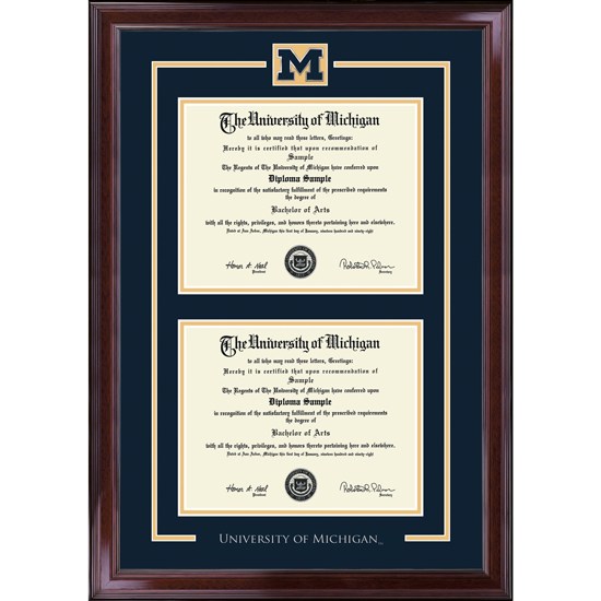 University of Michigan Diploma Frame: Spirit Encore [Dual Bachelors ...