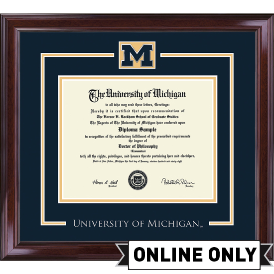 University of Michigan Diploma Frame: Church Hill Classics Spirit ...