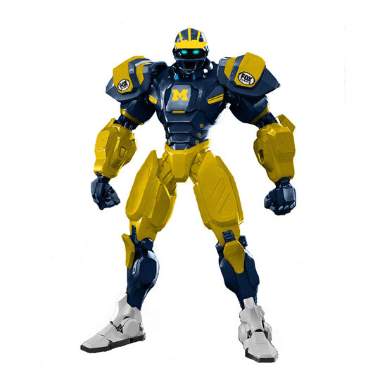 Action Heads University of Michigan 10 Cleatus Fox Robot Action Figure v2.0