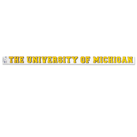 WinCraft University of Michigan Long Static Cling Decal
