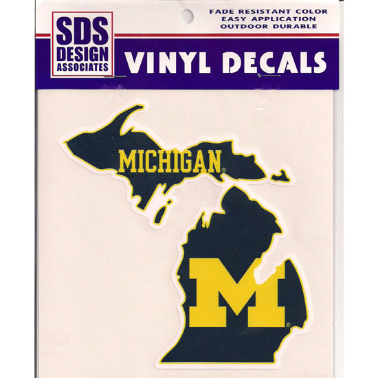 SDS University of Michigan State of Michigan Decal