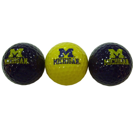 EnjoyLife University of Michigan Set of Three Navy/Yellow/Navy Golf Balls