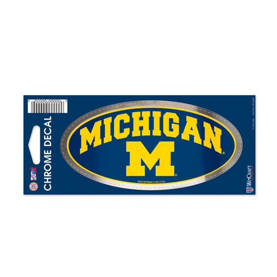 WinCraft University of Michigan Chrome Oval Decal