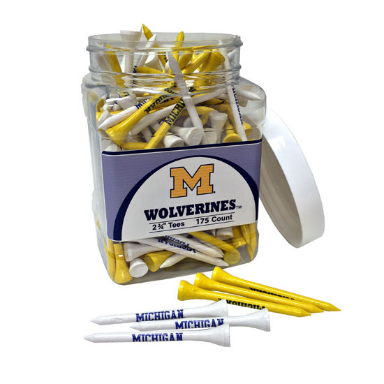 Team Golf University of Michigan Jar of 175 Golf Tees