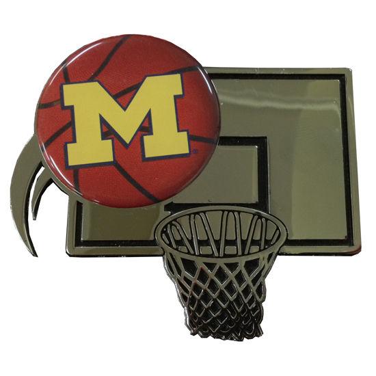 Stockdale University of Michigan Basketball Chrome Metal Auto Emblem