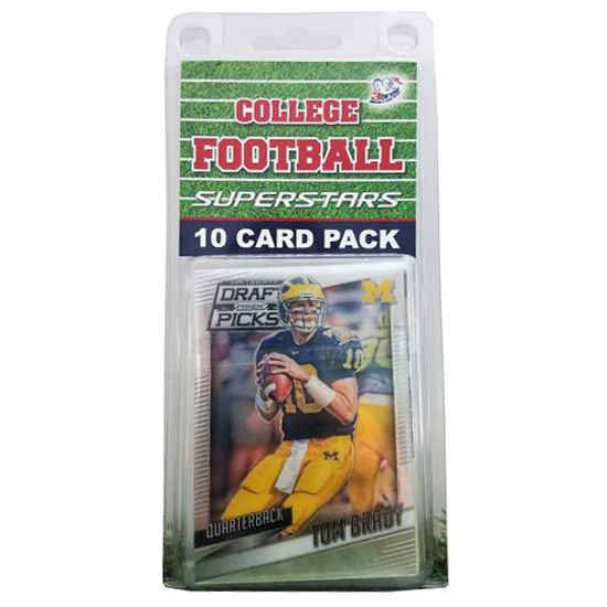 3 Bros And A Card Store University of Michigan Football 10 Pack Trading Cards