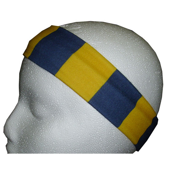 League Collegiate Outfitters University of Michigan Navy/Yellow Stripe Headband