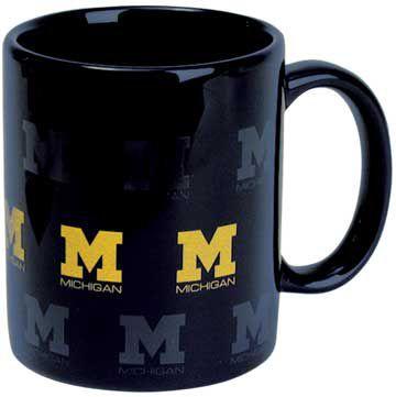 RFSJ University of Michigan Navy Scattered Block 'M' Coffee Mug