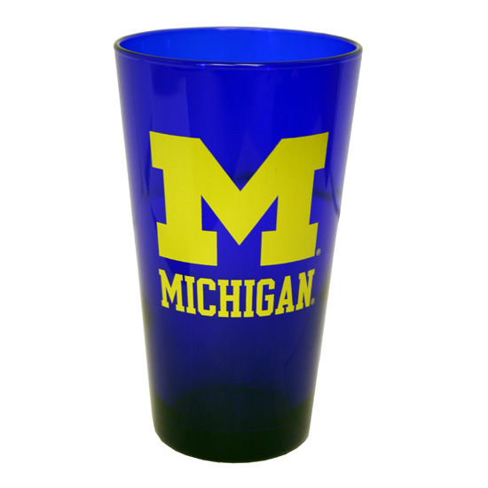 RFSJ University of Michigan Cobalt Blue Block M Pint Glass