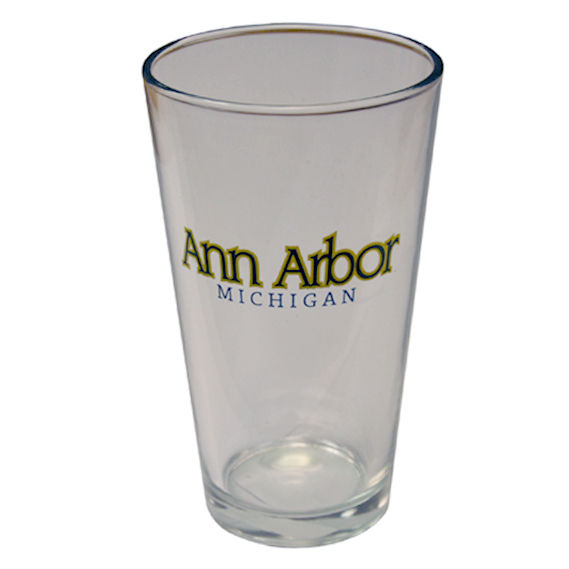 Ann Arbor Michigan Pint Glass