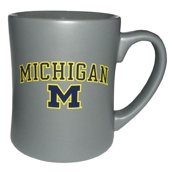 RFSJ University of Michigan Steel Gray MK Matte Coffee Mug