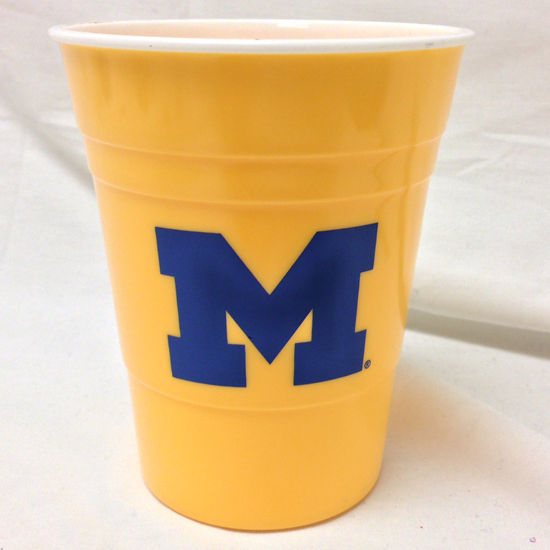 Spirit Products University of Michigan Reusable Yellow Party Cup