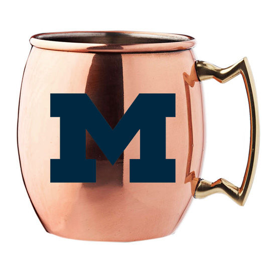 Rfsj University Of Michigan Moscow Mule Copper Mug