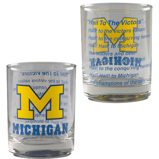 RFSJ University of Michigan Old Fashioned Rocks Glasses