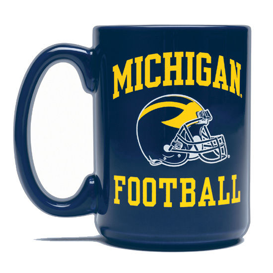 RFSJ University of Michigan Football Navy Helmet Coffee Mug
