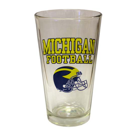 RFSJ University of Michigan Football Helmet Pint Glass