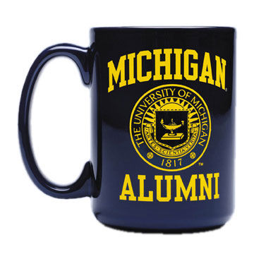 RFSJ University of Michigan Alumni Seal Navy Mug