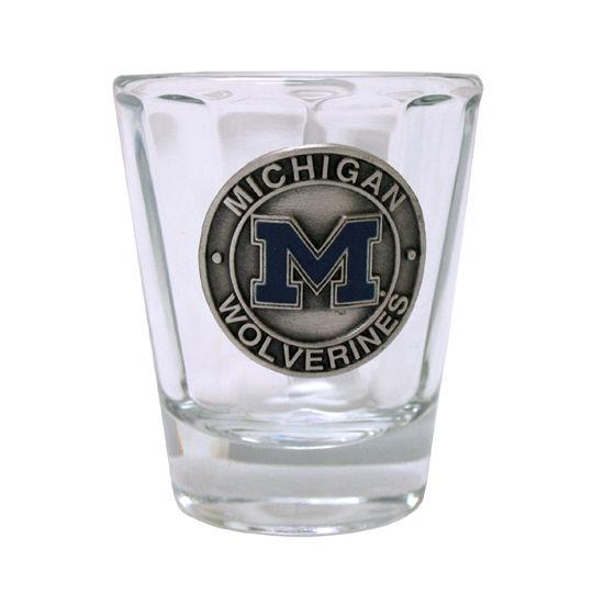 RFSJ University of Michigan Optical Pewter Shot Glass