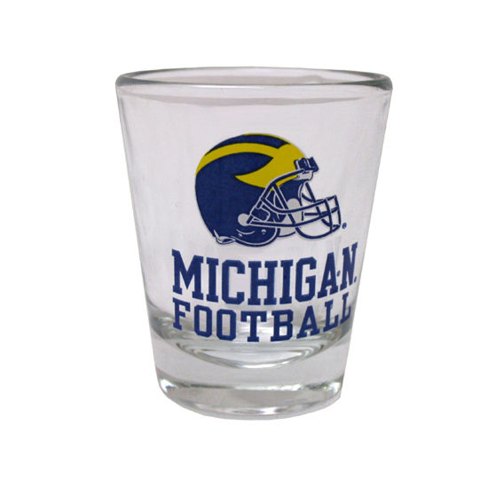 RFSJ University of Michigan Football Helmet Shot Glass