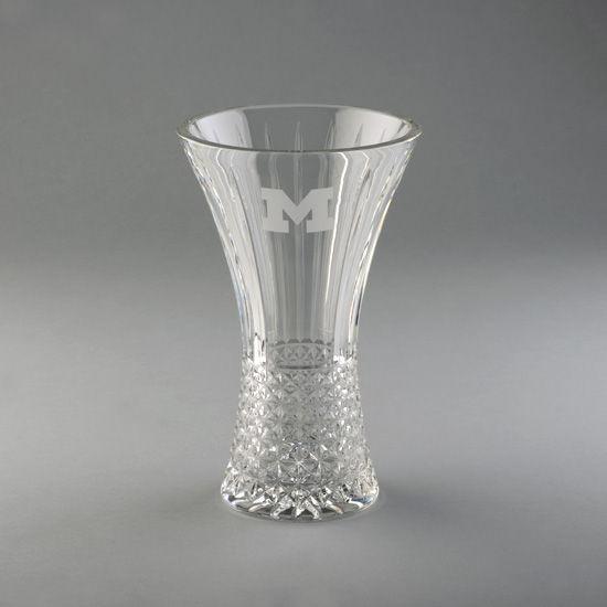 Krystof Crystal University Of Michigan Buckingham Hour Glass Vase