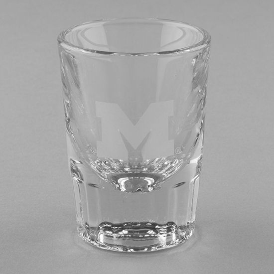 Krystof Crystal University of Michigan Fluted Shot Glass