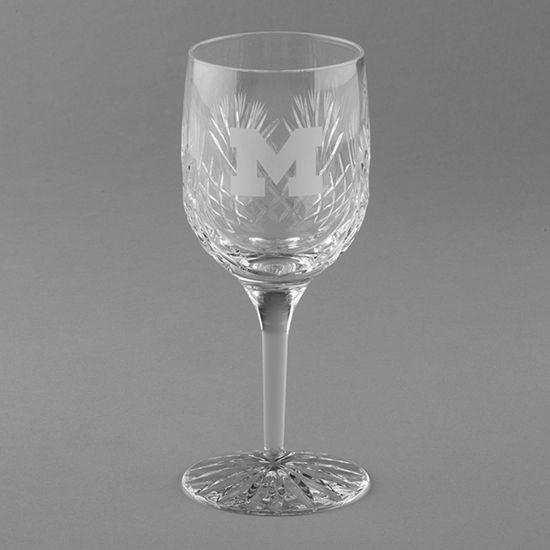 Krystof Crystal University of Michigan Wine Glass