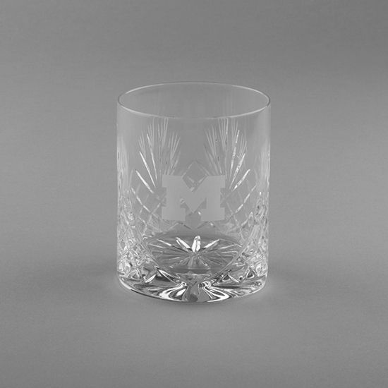 Krystof Crystal University of Michigan Double Old Fashioned Tumbler