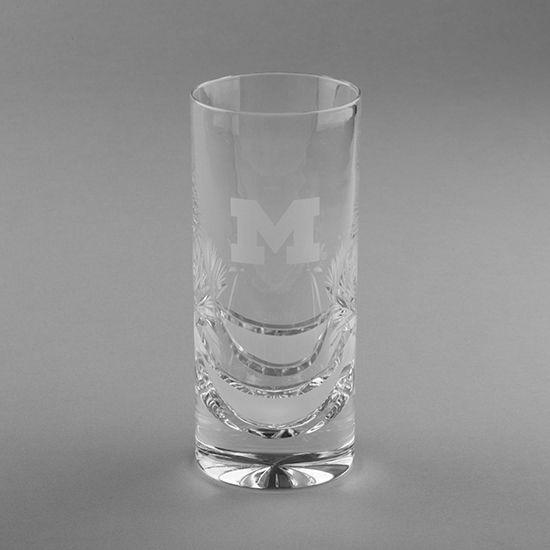 Krystof Crystal University of Michigan Highball Glass