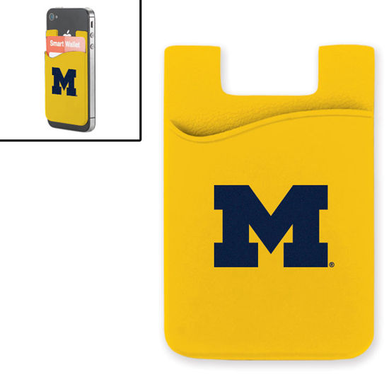 MCM University of Michigan Yellow Smart Wallet Mobile Card Holder