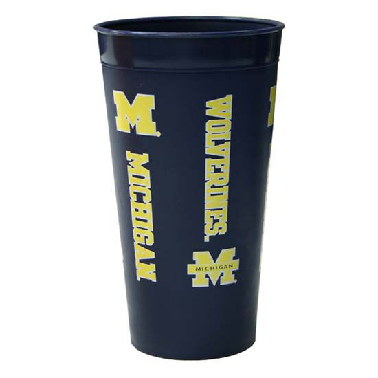 Spirit Products University of Michigan Navy 30oz Plastic Tumbler Cup