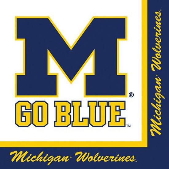 Stockdale University of Michigan 2-Ply Lunch Napkins