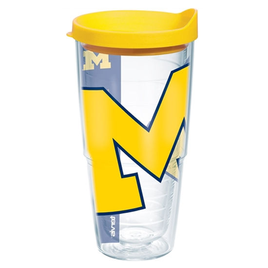 Tervis University of Michigan 24 oz Wrap Tumbler with Lid