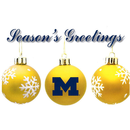 Fanatic cards university of michigan seasons greetings cards 10 pack m4hsunfo