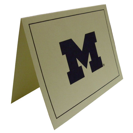 Overly University of Michigan 10 Pack Blank Ivory Note Cards with Envelopes