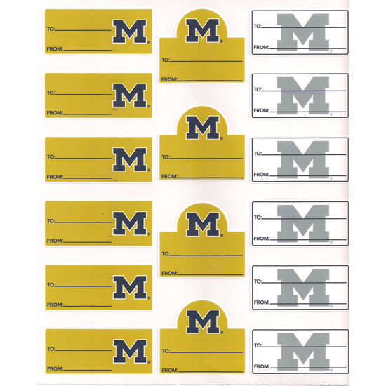 CDI University of Michigan Multi-Cal Gift Labels