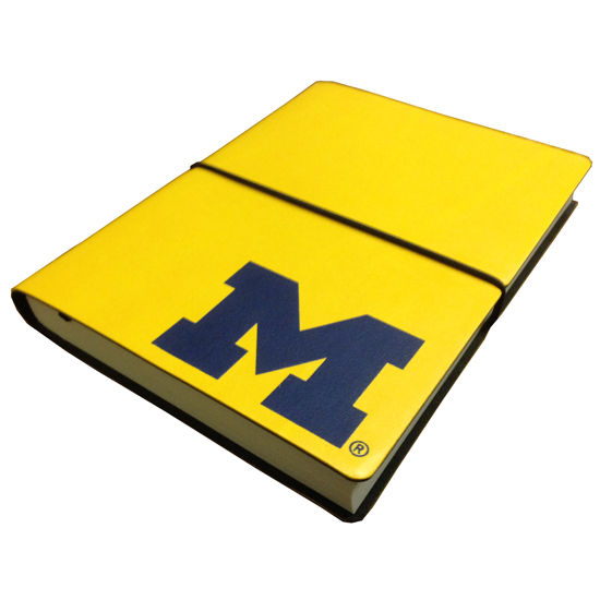 Ciak University of Michigan Italian Made Lined Notebook