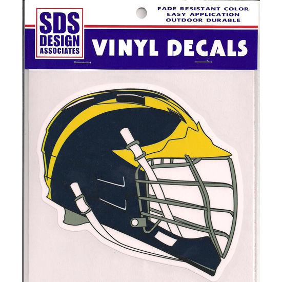 SDS University of Michigan Lacrosse Helmet Vinyl Decal