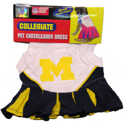 Pet's First University of Michigan Cheerleader Dress