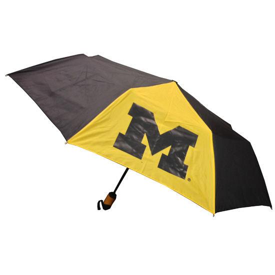 Storm Duds University of Michigan 42 Spirit Deluxe Auto Open Umbrella
