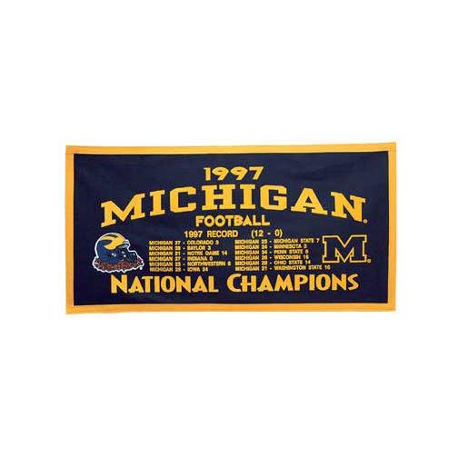 University of Michigan Football 1997 National Champion Banner