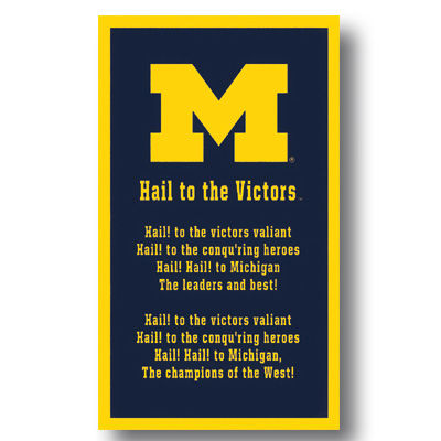 university of michigan fight song banner hail to the victors