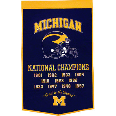 Winning Streak University of Michigan Dynasty Wool Banner