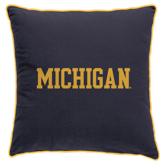 League Outfitters University of Michigan Varsity Michigan 14x14 Pillow