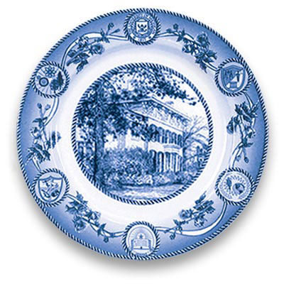 Classic Collegiate China University of Michigan President's House Plate