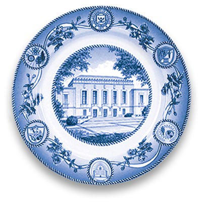 Classic Collegiate China University of Michigan Rackham Building Plate