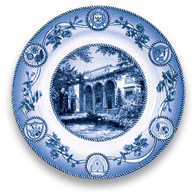 Classic Collegiate China University of Michigan Clements Library Plate